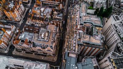 Fotomural Drone Foto de Londres, Mayfair.