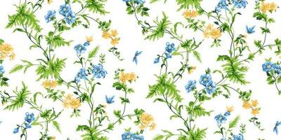Fotomural Echo patrón floral sin costuras