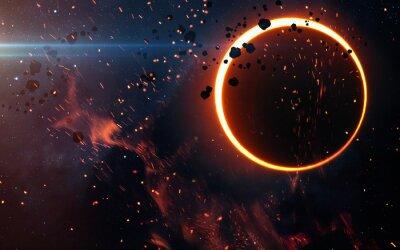 Fotomural Eclipse solar sobre una nebulosa. Elementos de esta imagen proporcionados por la NASA