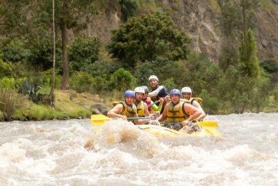 Fotomural Ecuador Rafting en el río Whitewater