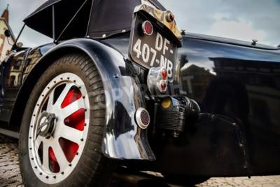 Fotomural Editorial, 12 de septiembre de 2015: Francia: XXXIIeme Festival Enthousiastes Bugatti en Molsheim. Auto antiguo.