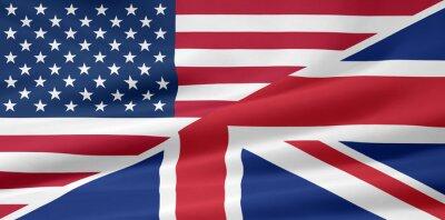 Fotomural EE.UU. - Reino Unido - Flagge