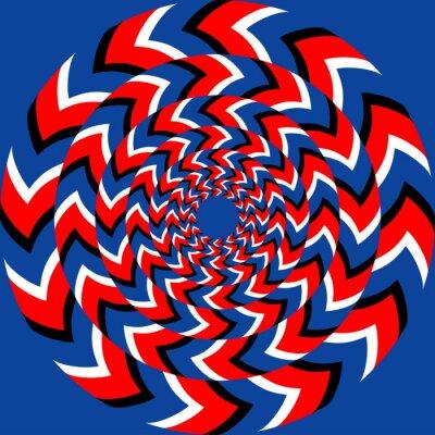 Fotomural Efecto de rotación con efecto de ilusión óptica