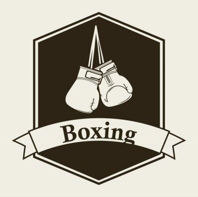 Fotomural el boxeo emblema