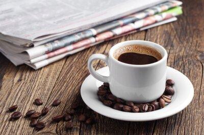 Fotomural El café y el periódico