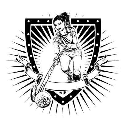 Fotomural El campo Shield Hockey