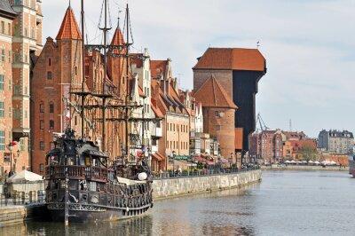 Fotomural El casco antiguo de Gdansk