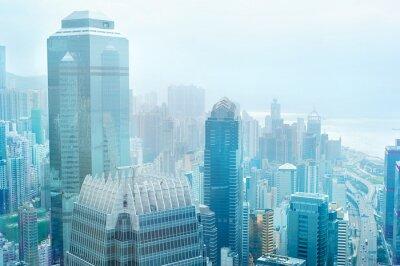 Fotomural El centro de negocios de Hong Kong