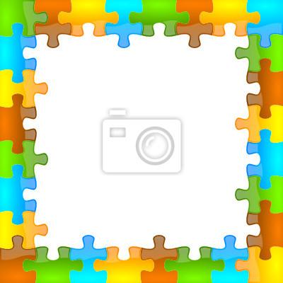 El color y rompecabezas brillante marco 8 x 8 fotomural ...