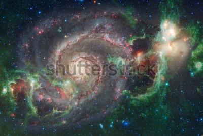 Fotomural El espacio exterior art. Nebulosas, galaxias y estrellas brillantes en bella composición. Elementos de esta imagen proporcionada por la NASA.