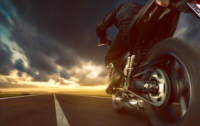 Fotomural El exceso de velocidad de la motocicleta