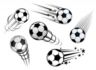 Fotomural El exceso de velocidad o balones de fútbol balones de fútbol