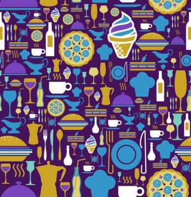 Fotomural El icono gastronómico situado sin patrón.