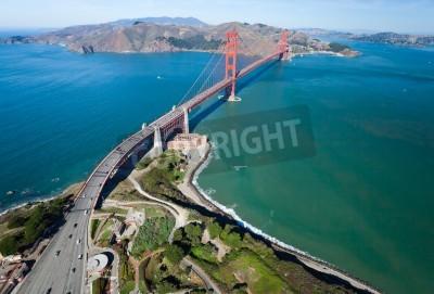Fotomural El puente Golden Gate en la bahía de San Francisco