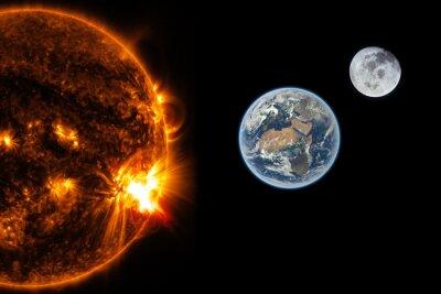 Fotomural El sol, la tierra y la luna - Elementos de esta imagen proporcionada por la NASA