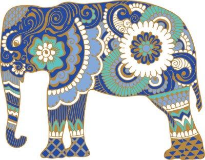 Fotomural Elefante asiático con patrones