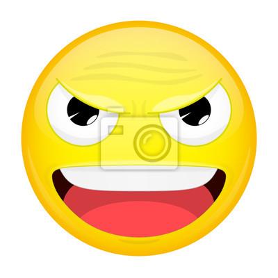 Emoji Malvado Emoción Feliz Emoticón De Risa Ilustración