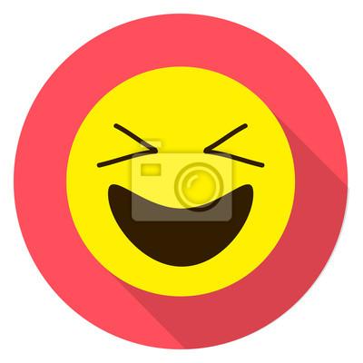Emoticon Cara De Risa Emoji De Risa Ilustración Vectorial Aislados