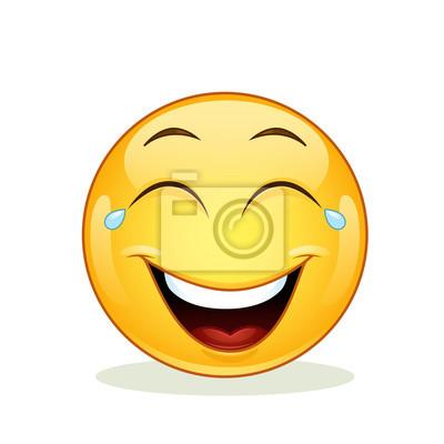 Emoticon Risa Con Lágrimas De Alegría Fotomural Fotomurales
