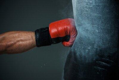 Fotomural Entrenamiento de boxeo y bolso de perforación