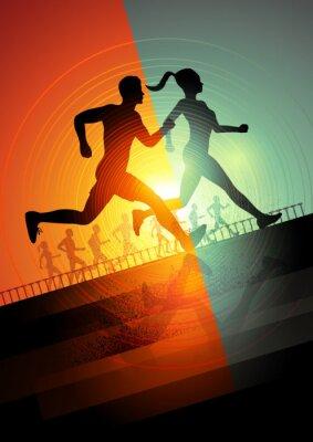 Fotomural Equipo de Running