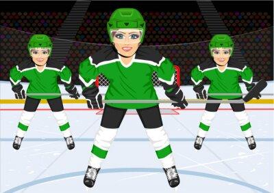 Fotomural Equipo femenino de hockey sobre hielo