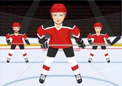 Fotomural Equipo masculino de hockey sobre hielo