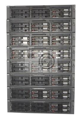 Fotomural equipos de servidor montado en rack aislado