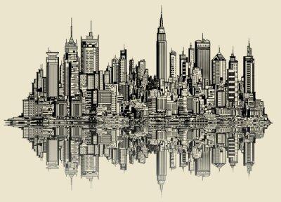 Fotomural esbozo de nueva york