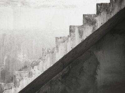 Fotomural Escaleras Arquitectura Edificio Blanco y Negro