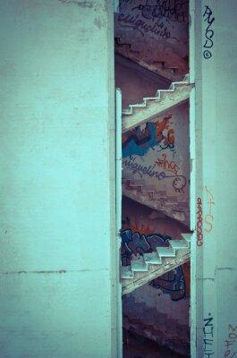 Fotomural escaleras decaídas