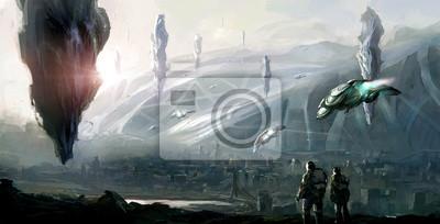Fotomural Escena de la ciencia ficción.