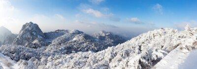 Fotomural Escena de nieve de Huangshan colina en invierno