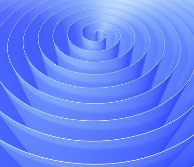 Fotomural Espiral 3D, patrón de fondo digital abstracto