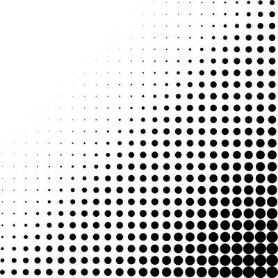 Fotomural Esquina de puntos de semitono