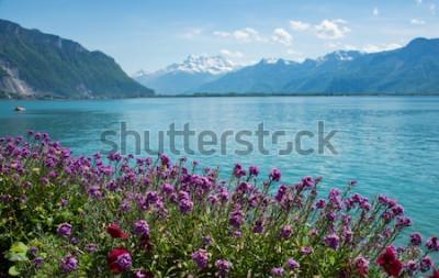 Fotomural Esta es una foto del paisaje de montaña, Suiza.