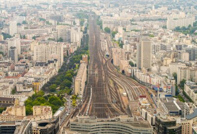 Fotomural Estación de tren de París, visto desde alta mirador