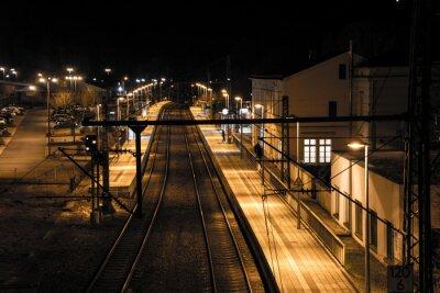 Fotomural Estación en la noche