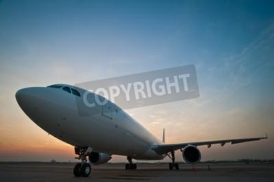 Fotomural Estacionamiento de aeronaves comerciales en el aeropuerto
