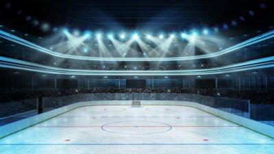 Fotomural estadio de hockey con los espectadores y una pista de hielo vacía