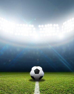 Fotomural Estadio y el balón de fútbol