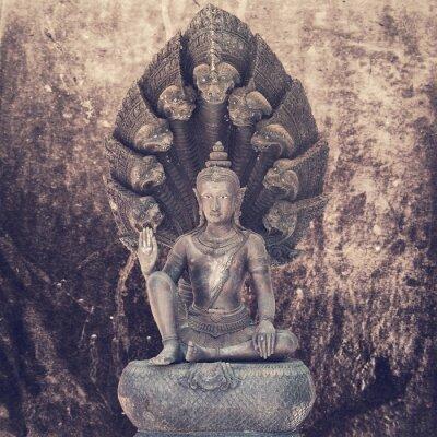 Fotomural Estatua de buddha que se sienta