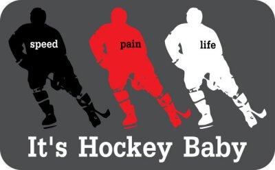 Fotomural Etiqueta de Hockey