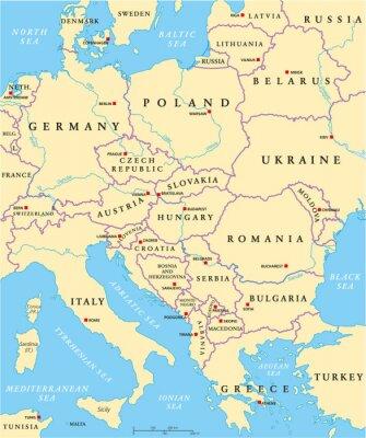 Fotomural Europa Central Mapa Político