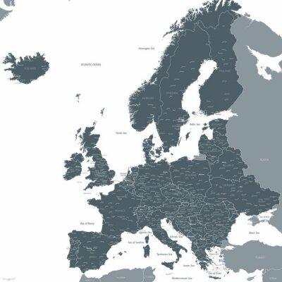 Fotomural Europa mapa vectorial