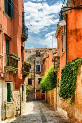 Fotomural Fachadas de casas antiguas en la calle Gradisca Cannaregio, Venecia