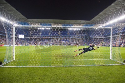 Fotomural Fernando Pacheco of RM in action at the Spanish Cup match between UE Cornella and Real Madrid, final score 1 - 4, on October 29, 2014, in Cornella, Barcelona, Spain