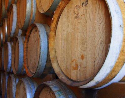 Fotomural Filas de barriles de vino