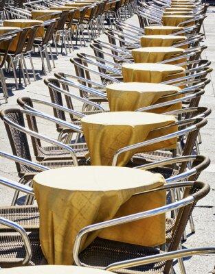 Fotomural filas de sillas