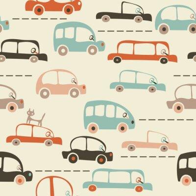 Fotomural fisuras mapa de la historieta de los coches y el tráfico